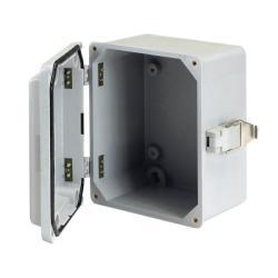 Hoffman A1287JFGQRR - Screw Hinge Cover Box - Gray - Steel