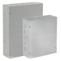 Hoffman ASE10X8X4 - Pull Box - Steel Screw-Cover - Type 1 with Knockouts - Gray