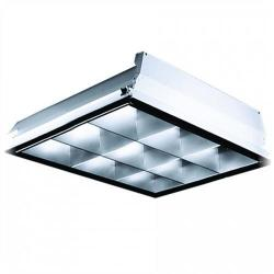Lithonia Lighting - PT2U MV - 2x2 Lay-In 9 Cell 2 Lamp Parabolic -- 32-U Lamp - 120-277V - Not Pre-Wired, No CFL Lamp Included