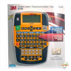 "3M - PL150 - Portable Labeler - QWERTY Keyboard Layout -- Bar Code Capability - 3/8""-3/4"" Label Size - Rubber Protective Bumper - 80 Symbol Library Terms - 25 Label Storage"