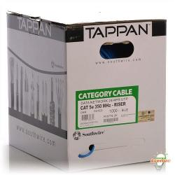 Tappan - CAT5e Riser Rated Data Cable - 1000FT - R19776 4 Pairs - #24 AWG - 100 Ohms Blue