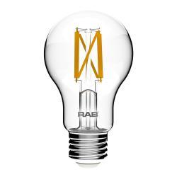 RAB A19-9-E26-927-F-C - 9W LED A19 Clear Bulb - 2700K
