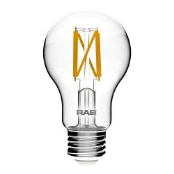 RAB A19-5-E26-927-F-C - 5W LED A19 Clear Bulb - 2700K