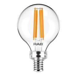 RAB G16.5-3-E12-927-F-C - 4W LED Globe Bulb - 2700K