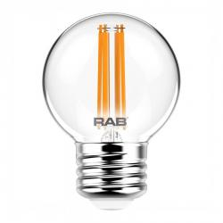 RAB G16.5-3-E26-927-F-C - 4W LED Globe Bulb - 2700K