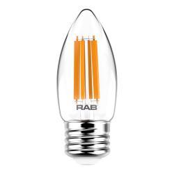RAB B11-3-E26-927-F-C - 3W LED B11 Bulb - 2700K