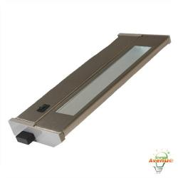 American Lighting 043T-10-BS - 6W Priori T2 Under Cabinet - Brushed Steel -- 3000K - 120V - Fluorescent - 228 Lumens (Initial) - 90 CRI - 120 Degree Beam Angle - Steel Housing - Captive Screws Mounting
