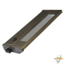 American Lighting 043T-10-DB - 6W Priori T2 Under Cabinet - Dark Bronze -- 3000K - 120V - Fluorescent - 228 Lumens (Initial) - 90 CRI - 120 Degree Beam Angle - Steel Housing - Captive Screws Mounting