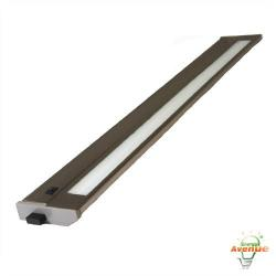 American Lighting 043T-28-BS - 18W Priori T2 Under Cabinet - Brushed Steel -- 3000K - 120V - Fluorescent - 684 Lumens (Initial) - 90 CRI - 120 Degree Beam Angle - Steel Housing - Captive Screws Mounting