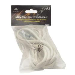 American Lighting 120-TL-JUMP-6 - 6 Ft Tape Rope Hybrid Jumper Cord -- Under Cabinet Lighting - LED Rope and Tape Light Accessories - Indoor / Outdoor - Dimmable