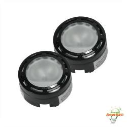 American Lighting - ALPX-40-BK - Xenon Under Cabinet 2 Puck Light Kit -- 20 Watt - 12V - 3000K - Black Finish - 100 CRI