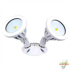 American Lighting - ALV2-2H-WH - LED Flood Light -- 2 Head - 15.9 Watt - 120/277 Volt - 74 CRI - White