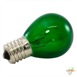 American Lighting - B10S11-GR - Incandescent S11 Light String Replacement Bulb - Green - Box of 25 -- 10 Watt - 130V - Intermediate (E17) Base - S11 Bulb