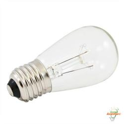 American Lighting - B11S14-CL - Incandescent S14 Light String Replacement Bulb - Clear - Box of 25 -- 11 Watt - 130V - Medium (E26) Base - S14 Bulb