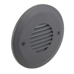 American Lighting - CIR-LV-DB - Smooth Faceplate for Indoor Outdoor LED Steplight - Louvered Dark Bronze