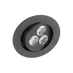American Lighting - LMS-3-BK - LED 3-Watt Mini Swivel - 3.75 Watt - 350mA -- Recessed mount - Matte Black Finish