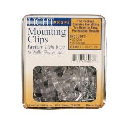 American Lighitng LR-CLIP-20 - U Shaped Mounting Clips for Rope Light -- 20 Plastic Clips - 40 Mounting Screws