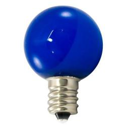 American Lighting - PG30F-E12-BL - Professional G30 LED Decorative Lamps - Box of 25 -- Blue - Candelabra E12 Base