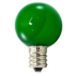 American Lighting - PG30F-E12-GR - Professional G30 LED Decorative Lamps - Box of 25 -- Green - Candelabra E12 Base