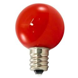 American Lighting - PG30F-E12-RE - Professional G30 LED Decorative Lamps - Box of 25 -- Red - Candelabra E12 Base