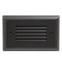 American Lighting - SGL-HL-DB - Horizontal Louver Faceplate for LED Step Light - Dark Bronze -- Durable Cast Zinc-Magnesium Faceplate