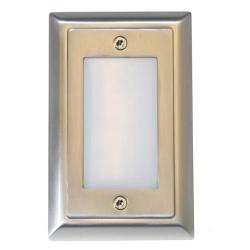 American Lighting - SGL-SM-SS - Smooth Faceplate for LED Step Light - Stainless Steel -- Durable cast zinc-magnesium faceplate