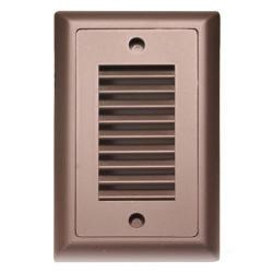 American Lighting - SGL-VL-DB - Vertical Louver Faceplate for LED Step Light - Dark Bronze -- Durable cast zinc-magnesium faceplate
