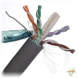 Belden Wire & Cable Co. - 1000FT - 1351A 0081000 - Gray Mini Multi-Conductor CAT6 Nonbonded-Pair ScTP Cable -- #23 AWG Solid - 4 Pairs - Solid Bare Copper Conductors - Polyvinyl Chloride Outer Jacket