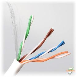 Belden Wire & Cable Co. - 1000FT - 1583A 009U1000 - White Multi-Conductor CAT5e Nonbonded 4-Pair Cable -- #24 AWG - Solid Bare Copper Conductor - Polyvinyl Chloride Outer Jacket