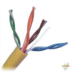 Belden Wire & Cable Co. - 1000FT - 1583A 004U1000 - Yellow Multi-Conductor CAT5e Nonbonded 4-Pair Cable -- #24 AWG - Solid Bare Copper Conductor - Polyvinyl Chloride Outer Jacket