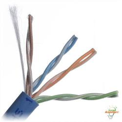 Belden Wire & Cable Co. - 1000FT - 1585A D15U1000 - Blue Multi-Conductor CAT5e Nonbonded 4-Pair Plenum Cable -- #24 AWG - Solid Bare Copper Conductor - Flamarrest&#174 Low Smoke Polyvinyl Chloride Outer Jacket