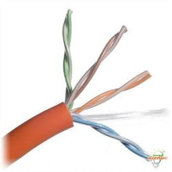 Belden Wire & Cable Co. - 1000FT - 1585A 003U1000 - Orange Multi-Conductor CAT5e Nonbonded 4-Pair Plenum Cable