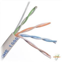 Belden Wire & Cable Co. - 1000FT - 1585A 009U1000 - White Multi-Conductor CAT5e Nonbonded 4-Pair Plenum Cable -- #24 AWG - Solid Bare Copper Conductor - Flamarrest&#174 Low Smoke Polyvinyl Chloride Outer Jacket