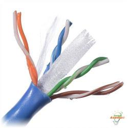 Belden Wire & Cable Co. - 1000FT - 2412 006A1000 - Light Blue Multi-Conductor Enhanced Category 6 Nonbonded 4-Pair Cable -- #23 AWG - Bare Copper Conductor - Polyvinyl Chloride Outer Jacket
