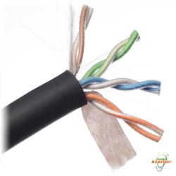 Belden Wire & Cable Co. - 1000FT - 2413 010A1000 - Black Multi-Conductor Enhanced Category 6 Nonbonded 4-Pair Cable -- #23 AWG - Bare Copper Conductor - Flamarrest&#174 Low Smoke Polyvinyl Chloride Outer Jacket