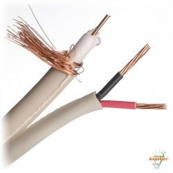 Belden Wire & Cable Co. - 1000FT - 649948 8771000 - Natural Color PTZ (CCTV+Power/Audio) Cable -- #20 AWG, Solid Stranding - 3 Bare Copper Conductors, 1 Pair - Siamese Flamarrest&#174 Low Smoke Polyvinyl Chloride Outer Jacket