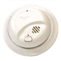 BRK - 9120B - 120V AC/DC Smoke Alarm -- Dual Ionization Sensor - 10 Year Warranty - Battery Backup - White