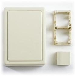 Belden - A0645272 - Side Entry Box - 2 Port -- Surface Mount - MDVO - Almond
