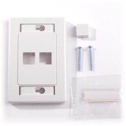 Belden - AX101433 - Faceplate -- Flush - 2 Port - 1 Gang - White
