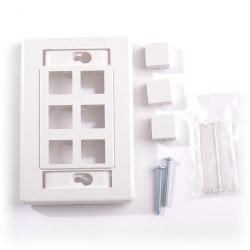 Belden - AX101441 - Faceplate -- Flush - 6 Port - 1 Gang - White