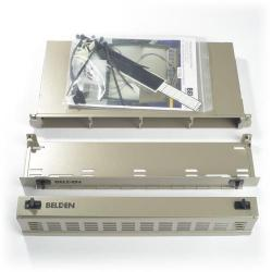 Belden - AX104681 - Patch Panel -- FiberExpress Ultra - HD - 1U - Titanium - Empty
