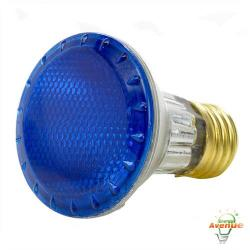 Bulbrite - 683503 - H50PAR20B - Dimmable Halogen Lamp -- 50 Watt - Medium (E26) Base - PAR20 Bulb - 2700K Warm White - Blue
