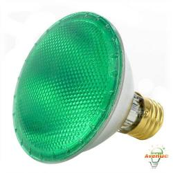 Bulbrite - 683754 - H75PAR30G - Dimmable Halogen Lamp -- 75 Watt - Medium (E26) Base - PAR30 - Green