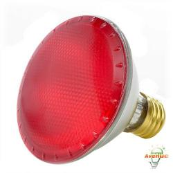 Bulbrite - 683757 - H75PAR30R - Dimmable Halogen Lamp -- 75 Watt - Medium (E26) Base - PAR30 - Red