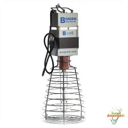 Bergen - B-LITE RK-400PS - 400 Watt Temporary High Bay Fixture -- 400 Watt Clear Metal Halide PS Lamp Included - Multi-Tap Ballast 120/277V - Welded Steel Safety Cage - Open-Close Bottom Guard - 3ft 120V Power Cord