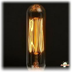 Bulbrite - 132506 - NOS25T6/SQ/E12 - Nostalgic Incandescent Edison -- 25 Watt - Candelabra (E12) Base - T6 Bulb - Vintage Filament - 1900K Candle Flame - Antique