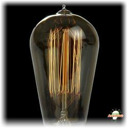 Bulbrite - 134019 - NOS40-1910 - Nostalgic Incandescent Edison Squirrel Cage -- 40 Watt - Medium (E26) Base - ST18 Bulb - 2100K Warm White - Antique