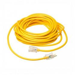Coleman Cable - 01689 - Polar/Solar - 100 Ft Extension Cord -- Yellow - 12/3 AWG - 15 Amp - SJTW - 01689-00-02