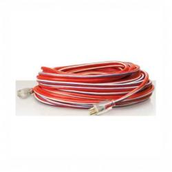 Coleman Cable - 02549 - Heavy Duty 100 Ft Extension Cord -- Red/White/Blue - 12/3 AWG - 15 Amp - SJTW - 02549-USA1