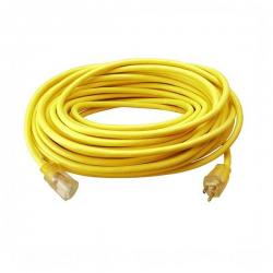 Coleman Cable - 02589 - 100 Ft Extension Cord -- Yellow - 12/3 AWG - 15 Amp - SJTW - 02589-00-02